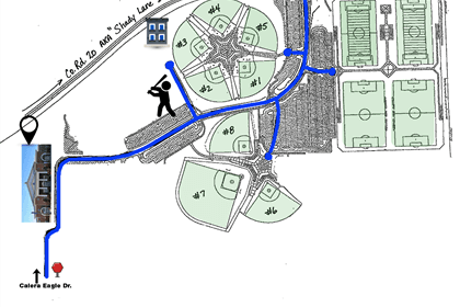 Map of Eagle Sports Complex