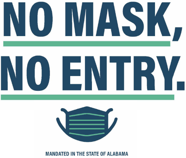 No Mask, No Entry Graphic