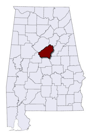 Shelby County on a map